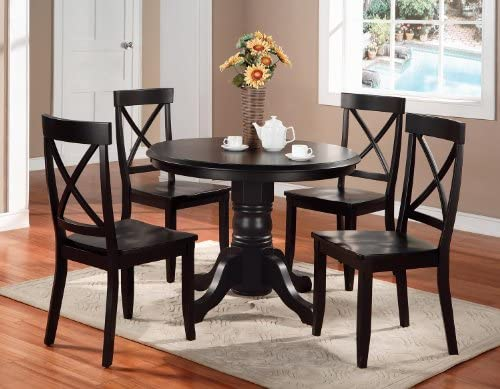 home, kitchen, furniture, kitchen, dining room furniture,  tables 7 discount Classic Black 42
