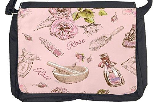 Borsa Tracolla Farmacia Profumo rosa Stampato