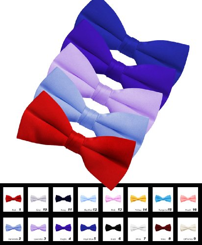 Mens's Solid Banded Bow Ties