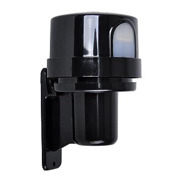 Terrific Black Outdoor Ip44 Rated Dusk Till Dawn Photocell Light Sensor Wiring Database Denligelartorg