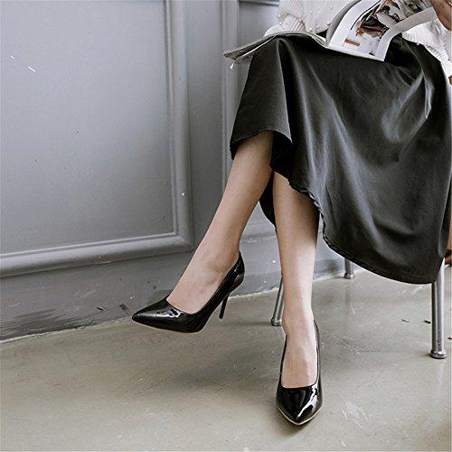 Toe A Tribunale Sexy Scarpe Delle Vestito Punta Jushee Nero Pompe Del Alti Tacchi Partito Donne Le 80OHYx