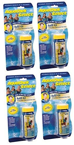 200) New AQUACHEK Select Refill Swimming Pool Spa 7 Test Strips pH/Chlorine