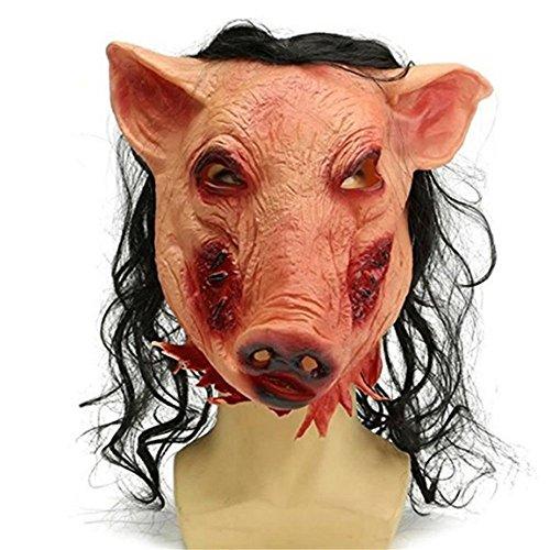 HAOSUN Horrible Pig Head Mask Christmas Masquerade Halloween Decoration Costume Party Latex Mask