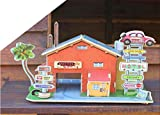 Meshion 3D Puzzle Wooden Handmade Miniature Motor Hotel DIY Toy Assembly Games,Modeling Kit for 6 Years Old Or up