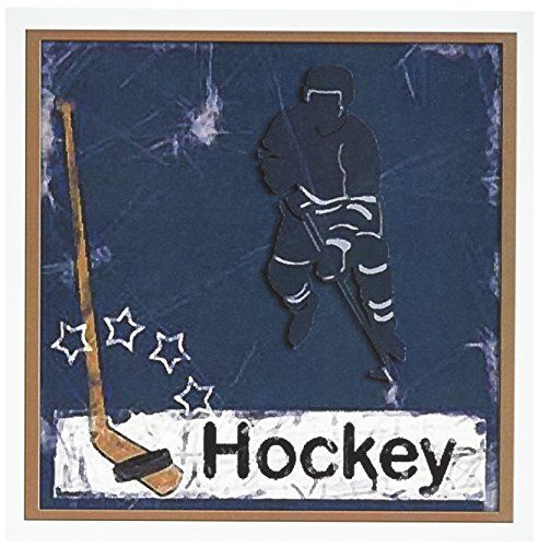 3d Rose 3dRose Hockey Player - Greeting Cards, 6 x 6 inch...