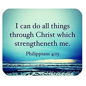 Generic Personalized Philippians 4:13 I can do all things through christ which strengtheneth me for Rectangle Mouse Pad by supermalls