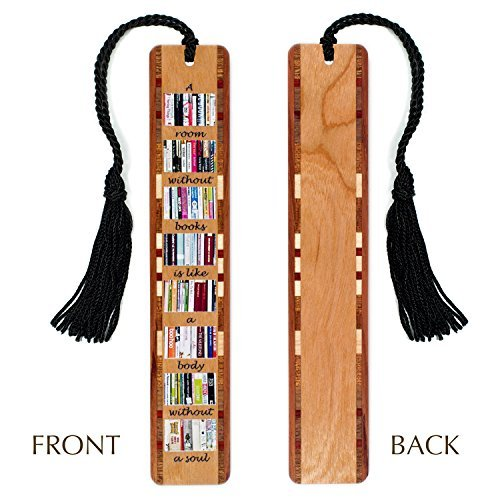 Mitercraft A Room Without Books Quote Wooden Bookmark with Tassel
