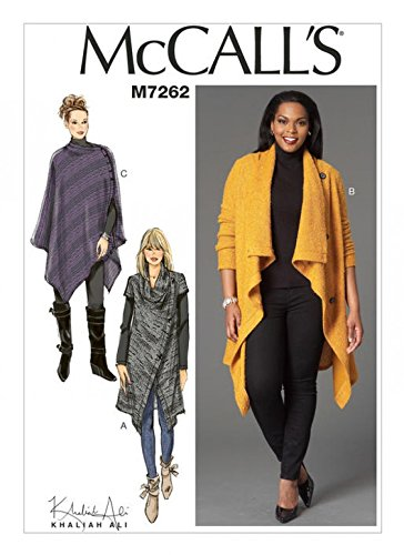 Mccalls Ladies Easy Sewing Pattern 7262 Sweater Coat Poncho