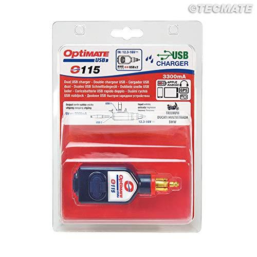 Amazon.com: Optimate USB, o-115, 3300 mA salida doble ...