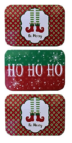 Country Snowman Stocking (Christmas Holiday Gift Card Tin Box Holders Santa's Elves Stockings and Ho Ho Ho 3 Pack)