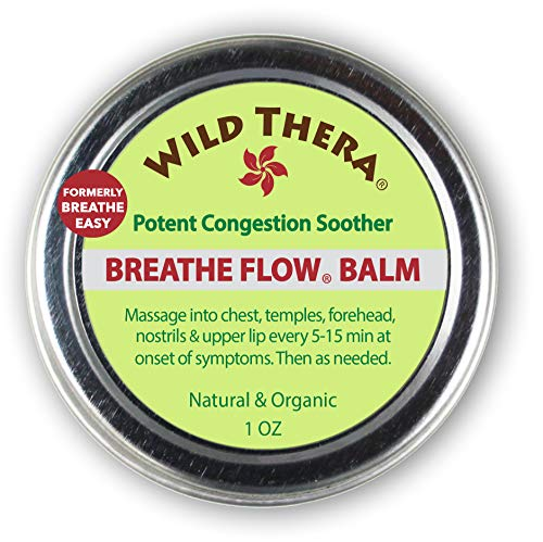 Wild Thera Breathe Easy/Breathe Flow Balm. Natural Sinus Relief, Allergy Relief, Stuffy Nose, Chest Congestion. Sinus Buster: Colds, Cough, Headache, Sinus Infection Relief, Sinus Rinse and Neti - Relief Natural Congestion Sinus