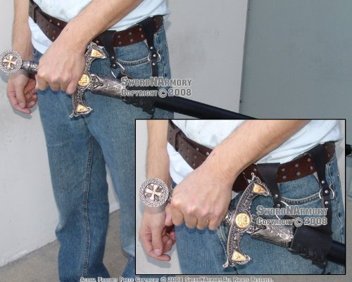 Ace Martial Arts Supply Leather Medieval Rapier Renaissance Sword Holster - Ace Belt