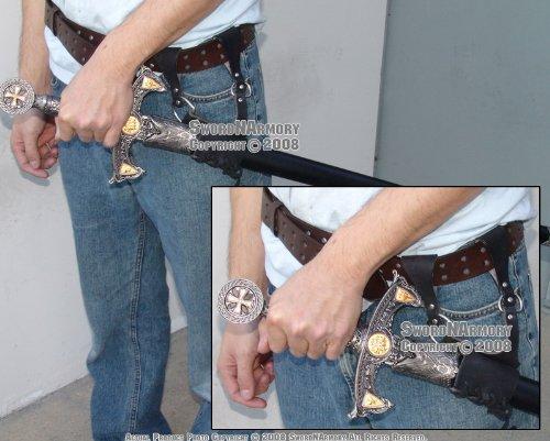 ply Leather Medieval Rapier Renaissance Sword Holster ()