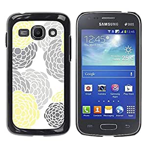 Paccase / SLIM PC / Aliminium Casa Carcasa Funda Case Cover para - Gray Yellow White Minimalist - Samsung Galaxy Ace 3 GT-S7270 GT-S7275 GT-S7272