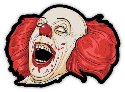 Evil clown sticker decal 5