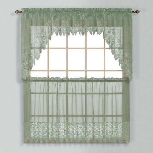 Good Choice United Curtain Valerie Lace Sheer Straight