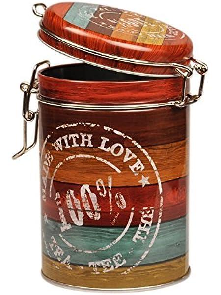 Vintage madera – let s Have té – estilo Retro redondo caja ...