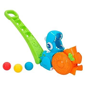 winfun - Dinosaurio de arrastre lanza pelotas con luces y sonidos ...