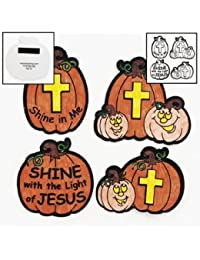 Take 1 X Color Your Own Christian Pumpkin Fuzzy Magnets - Sunday School & Crafts for Kids cheapest