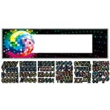 Amscan Funky 70's Personalize It Giant Party Sign Banner Decoration, 65'' x 20'', Pack of 121. Supplies (1452 Piece)