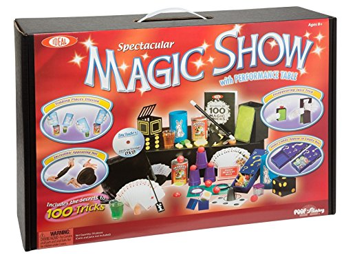New Ideal 100 Trick Spectacular Magic Show Suitcase Kit w/ DVD and Props