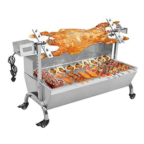 (TG888 Heavy Duty Stainless Steel Hog Roast Machine BBQ Spit Roaster 132 LBS Rotisserie Grill Roasting 110V Motor)