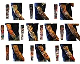 TAUT 6pcs/10pcs/20pcs Set Body Art Arm Stockings Fake Temporary Tattoo Sleeves