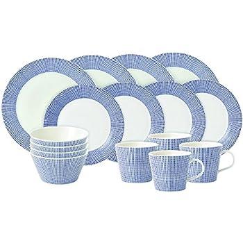 Royal Doulton Pacific Dots 16 Piece Dinner Set White  sc 1 st  Amazon.com & Amazon.com: Royal Doulton 1815 16-Piece Set Blue: Dinnerware Sets ...
