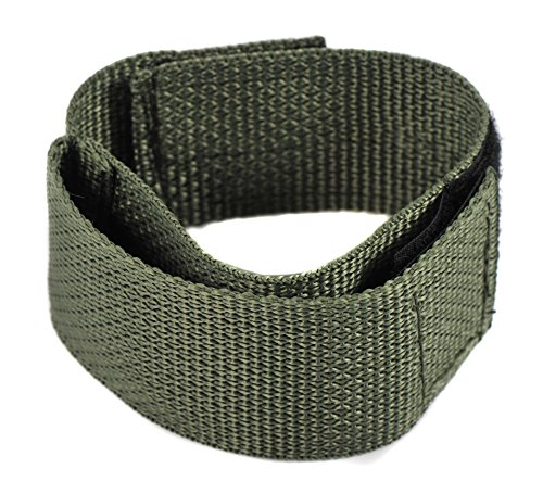Raine Military Covered Watchband, Foliage Green