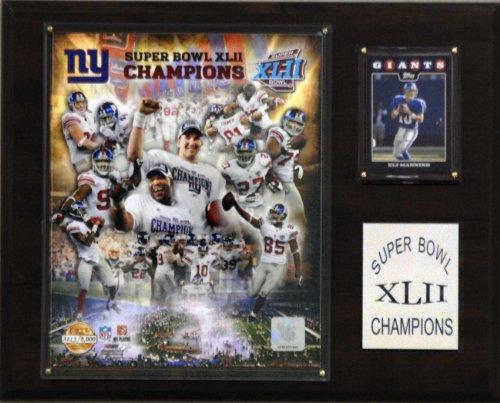 NFL Giants Super Bowl XLII Limited Edition Champions Plaque (Bowl Championship Super Plaque)