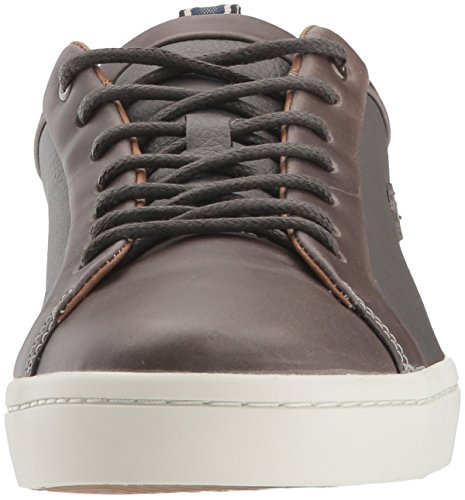 Lacoste Heren Straightset Sneakers Grijs / Off White Leer