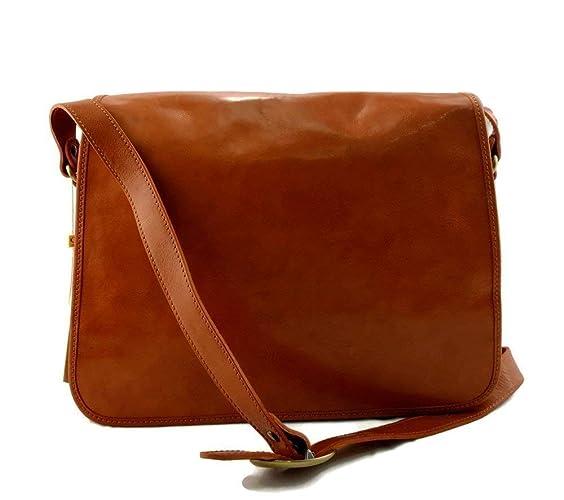 f5ca98220b Borsa messenger uomo donna borsa postino messenger tracolla postino vera  pelle cartella portadocumenti miele