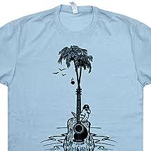 Acoustic Guitar Tree T Shirt Parot Bird Graphic Tees