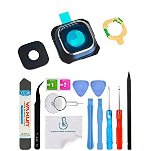 Omnirepairs-For Samsung Galaxy S6 SM-G920 Rear Facing Glass Camera Lens + Frame Assembly Replacement + Adhesive + Tools
