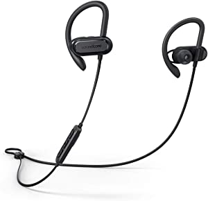Wireless Bluetooth Headphones, Soundcore Spirit X Sports Earphones by Anker, Bluetooth 5.0, 12-Hour Battery, IPX7 Wireless Earbuds, Noise Isolation, SweatGuard Technology for Workout, Gym, Running