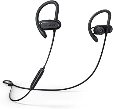 Bluetooth Headphones Soundcore Spirit X Wireless Headset By Anker With Bluetooth 5 0 12 Hour Battery Ipx7 Waterproof Sweatguard Technology Earbuds With Mic Secure Fit For Sport And Workouts Amazon Ca Cell Phones Accessories