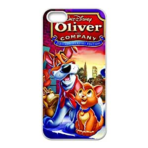 iPhone 5 5s Cell Phone Case White Disney Oliver & Company Character Oliver 002 JSY4272597KSL