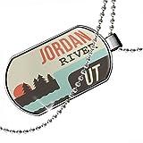 Dogtag USA Rivers Jordan River - Utah Dog tags necklace - Neonblond
