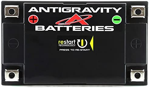 Antigravity ATZ-10-RS Lithium Ion Battery with BMS and Re-Start Technology YTZ12 YTX7A-BS YTX9 360cca 2.3 Pounds 10Ah Lightweight Motorcycle Battery YT12A-BS Replaces YTZ10S YTZ14