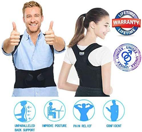 Posture Corrector Women Men Under Clothes - Adjustable Upper Back Brace Posture Hump Corrector - Posture Brace Strap - Clavicle Brace Kyphosis Thoracic Support Trainer - Humpback Correction Belt