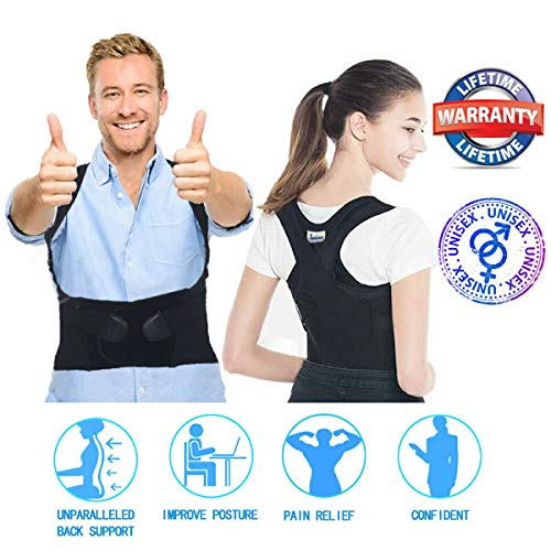 Posture Corrector Women Men Under Clothes - Adjustable Upper Back Brace Posture Hump Corrector - Posture Brace Strap - Clavicle Brace Kyphosis Thoracic Support Trainer - Humpback Correction Belt
