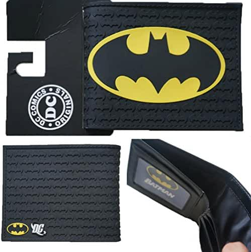 DC Comics Batman Logo Bi-fold Men's/Boys Wallet with Gift Box
