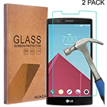 [2 Pack] LG G4 Screen Protector, NOKEA [Tempered Glass] with [9H Hardness] [Crystal Clear] [Easy Bubble-Free Installation] [Scratch Resist] (for LG G4)
