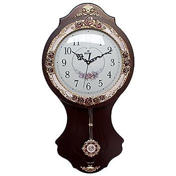 Yiren Pizarra elegante vitrina Exquisite personalidad pared Reloj Mute Moderno Minimalista Dormitorio Relojes Despertador Salón, Hohe 71 cm Braun, ...