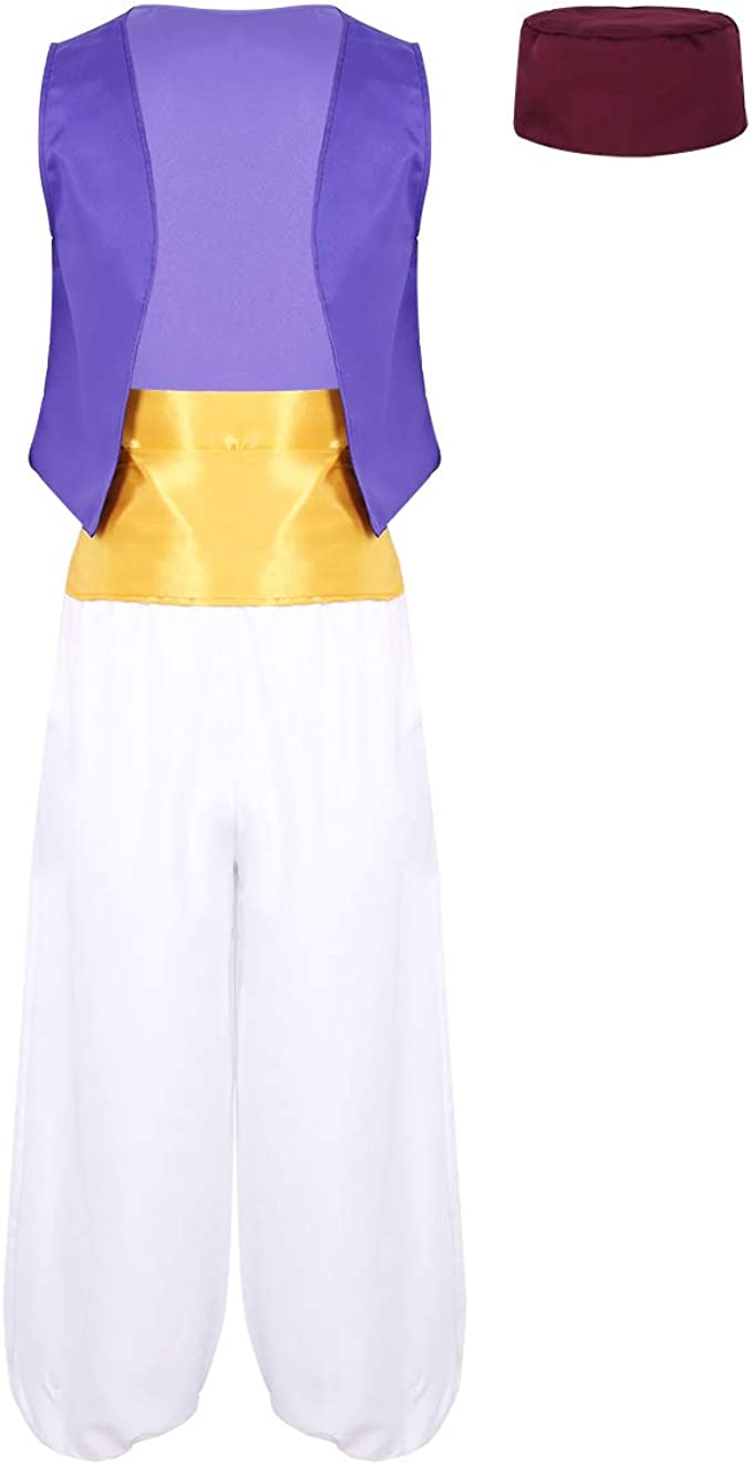 Freebily Aladino - Disfraz Adulto de Principito árabe para Hombre ...