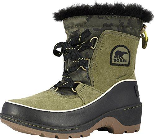 Sorel Women's Tivoli III Premium Non Shell Boot (10 M US, Hiker Green/Black Suede/Textile Combination) ()
