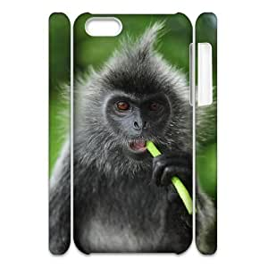 Cell phone 3D Bumper Plastic Case Of Monkey For iPhone 5C