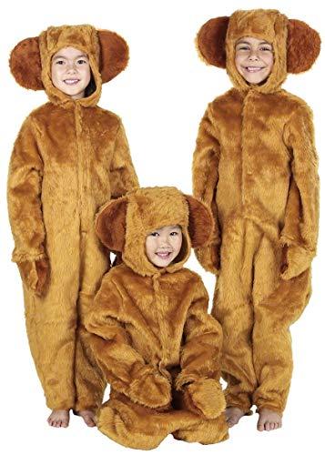 Boys Girls Honey Bear Book Week Onesie Animal Halloween Fancy Dress Costume Outfit 4-12 Years (4-6 Years (116cms)) Brown