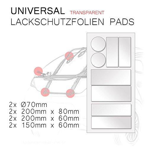 Universal Lackschutz Folie Set Transparent passend f/ür Hecktr/äger Fahrradtr/äger