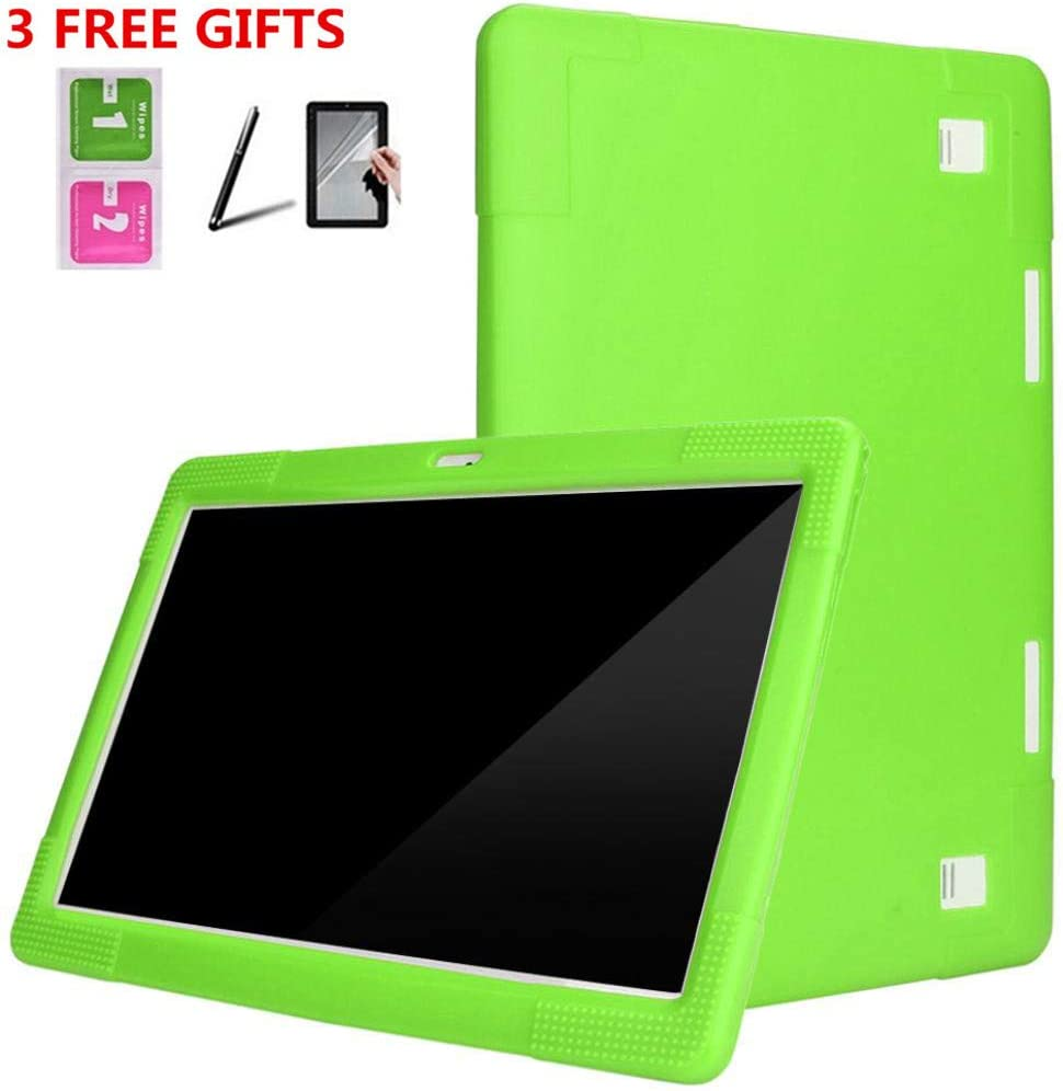 Touch Screen Pen Black Shockproof Light Weight Protective Cover Kid Friendly Case Anti- Fingerprints Protetive Film Kids Case for 10.1 Inch Android Tablet PC Anti-Shock